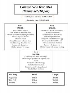 CNY menu